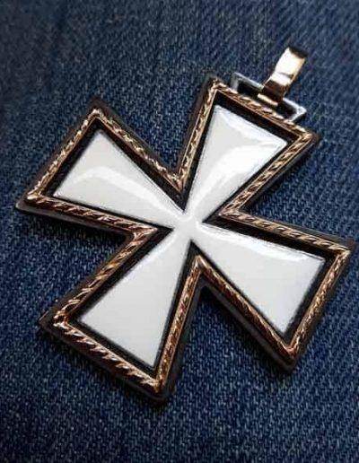 Croce in Oro Argento e smalto