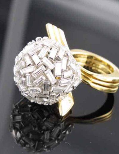 Sfera di Diamanti a Baguette disegno anni 70
